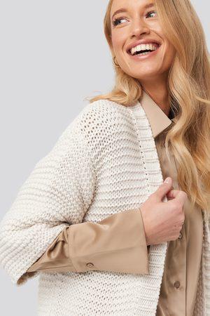 NA-KD Short Sleeve Heavy Knitted Cardigan