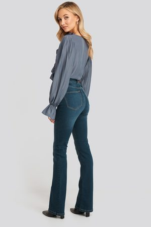 NA-KD Kvinna Bootcut - Skinny Bootcut Jeans