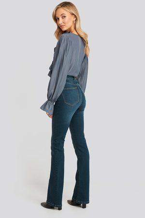 NA-KD Skinny Bootcut Jeans - Flared Jeans - Blå - EU 38
