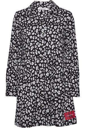 Calvin Klein Kvinna Festklänningar - Animal Print Diner Dress Kort Klänning Multi/mönstrad