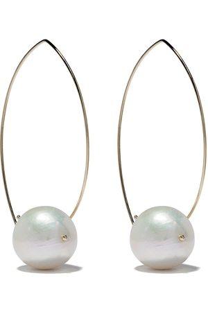 Mizuki Kvinna Örhängen - Pärlörhängen i 14K guld