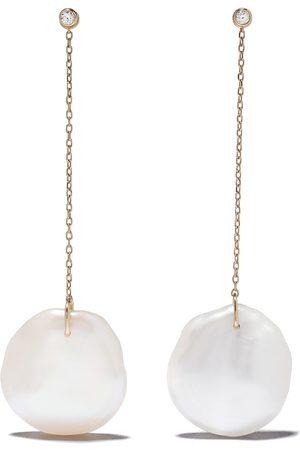 Mizuki Kvinna Örhängen - örhängen i 18K guld med pärla och diamant