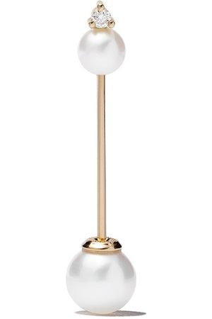 Mizuki 14kt Sea of Beauty diamond pearl single earring
