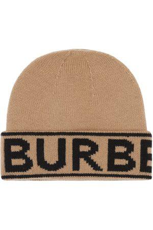 Burberry Mössor - Logo Intarsia Cashmere Beanie