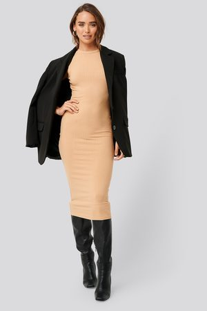 NA-KD Sleeveless Ribbed Midi Dress