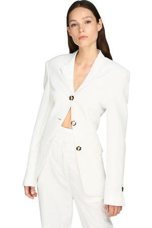 Proenza Schouler Cinched Linen Blend Blazer Jacket