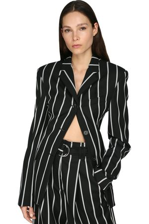 Proenza Schouler Striped Wool Twill Blazer
