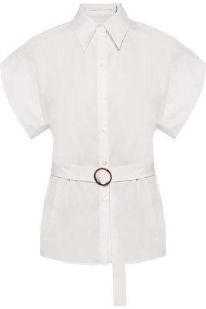 Victoria Beckham Belted waist shirt