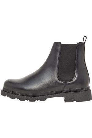 Bianco Leather Chelsea Boots Kvinna