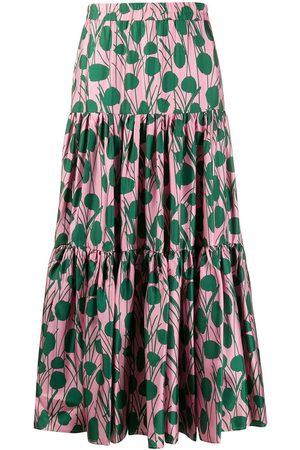 La DoubleJ Utsvängd mönstrad kjol