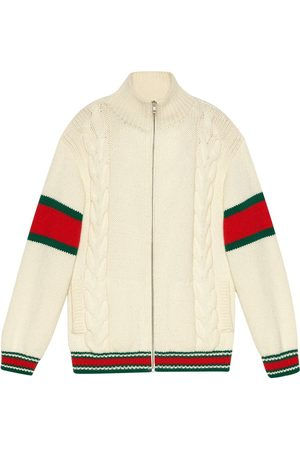 Gucci Cable-knit bomber jacket