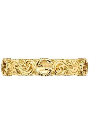 Gucci Ring i 18K gult med logotyp
