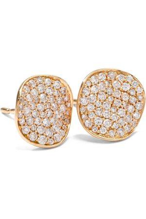 Ippolita Blommiga stiftörhängen i 18K guld med diamanter