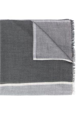 Brunello Cucinelli Man Halsdukar - Stickad halsduk med färgblock