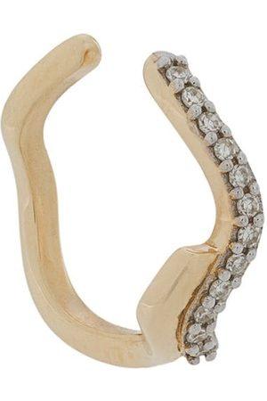 Maria Black Diamond encrusted ear cuff