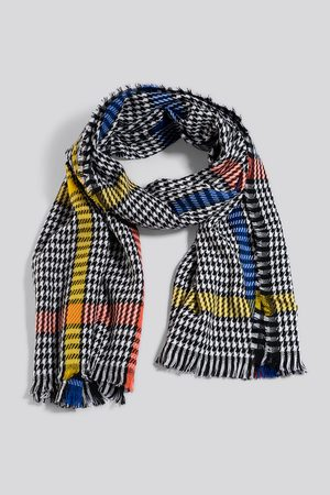 NA-KD Colorful Dogtooth Scarf