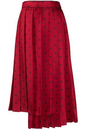 Fendi FF Karligraphy plisserad kjol