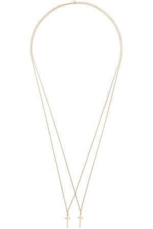 Dsquared2 Man Halsband - Double cross pendant necklace