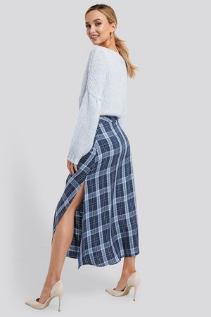 NA-KD High Waist Side Split Midi Skirt - Midikjolar - Multicolor - EU 36