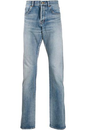 Saint Laurent Stentvättade jeans med raka ben