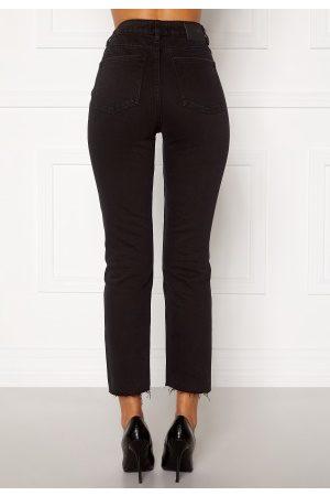 Only Emily HW Raw Ank Jeans Black Denim 33/32