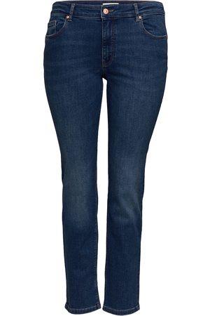 Carmakoma Kvinna Slim - Carveva Life Str Reg Stbb Soo732ab Noos Slimmade Jeans