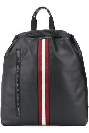 Bally Ryggsäck med broderad logotyp och rand