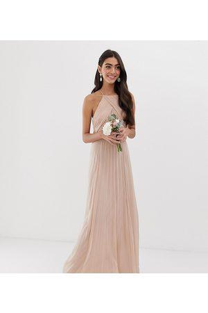 ASOS ASOS DESIGN Tall – Bridesmaid – Förklädesklänning i maximodell med rynkat liv