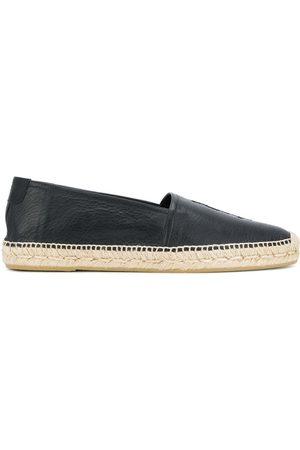 Saint Laurent Man Espadrillos - Espadriller i läder med monogram