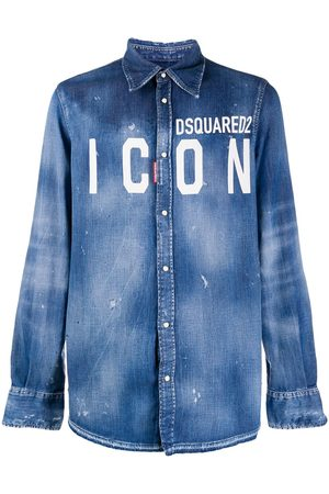 Dsquared2 Jeansskjorta med logotyp
