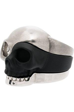 Alexander McQueen Man Ringar - Tredelad ring med dödskallemotiv