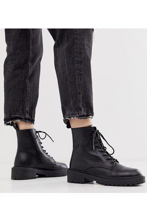 Raid – Micah – Svarta platta boots med snörning – Endast hos ASOS