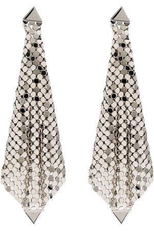 Paco rabanne Tone chain mesh drape earrings