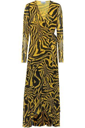 Ganni Exclusive to Mytheresa – Animal-print mesh wrap dress