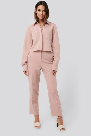 NA-KD Kvinna Trekvartsbyxor - Tailored Cropped Suit Pants