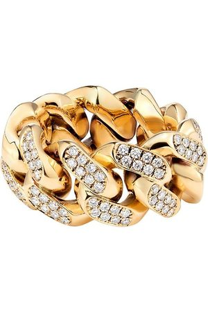 777 Diamantring i gult guld