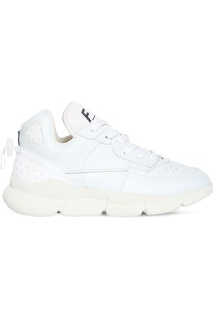 F_WD 20mm Faux Leather Lace-up Sneakers