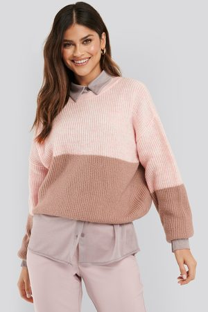 NA-KD Color Blocked Knitted Sweater - Stickade tröjor - Multicolor - Small