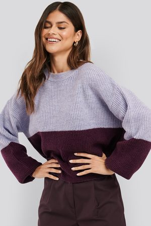 NA-KD Color Blocked Knitted Sweater - Stickade tröjor - Multicolor - X-Small