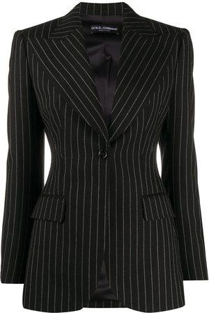 Dolce & Gabbana Pinstriped single button blazer