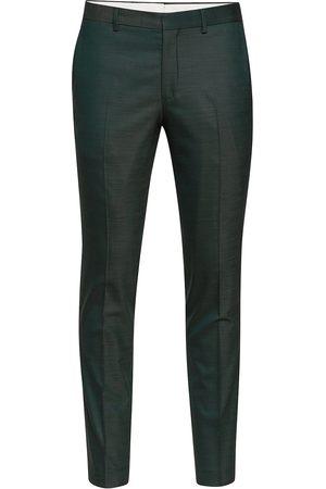 Selected Man Dressade byxor - Slhslim-Mylostate Flex Green Trs B Noos Kostymbyxor Formella Byxor