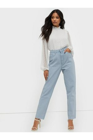 Missguided Riot High Waisted Plain Mom Jeans Straight