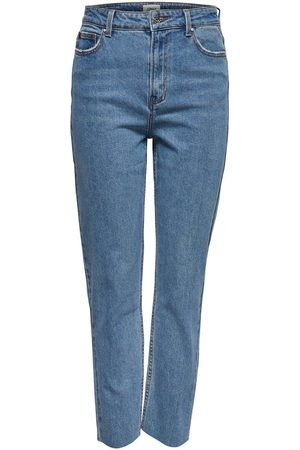 Only Onlemily Hw Cropped Ankle Straight Fit-jeans Kvinna