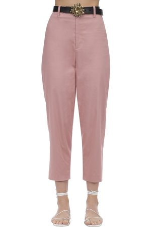 Acheval Pampa Al Viento Cropped Cotton Satin Pants