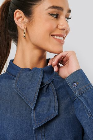 NA-KD Tied Collar Denim Shirt