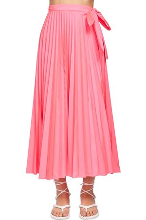 VALENTINO Nylon Canvas Midi Skirt W/side Bow