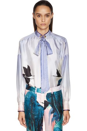 F.R.S For Restless Sleepers Landscape Print Damier Jacquard Shirt