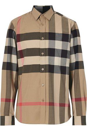 Burberry Rutig skjorta i oversize-modell