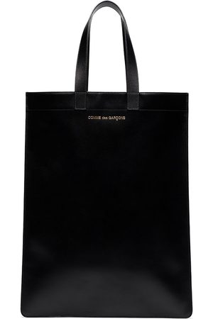 Comme des Garçons Black leather tote bag
