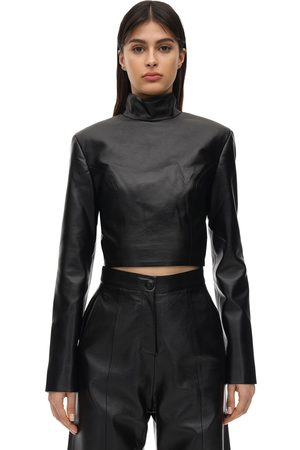 MATÉRIEL Cropped Faux Leather Top
